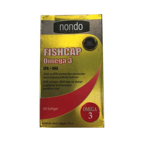 Nondo Vitamins - Nondo Vitamins Fishcap Omega 3 50 Kapsül