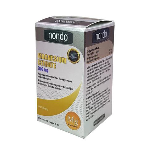 Nondo Vitamins - Nondo Vitamins Magnesium Citrate 60 Tablet