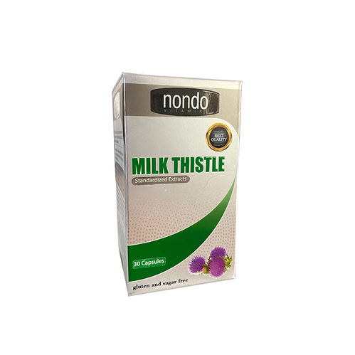 Nondo Vitamins - Nondo Vitamins Milk Thistle 30 Kapsül
