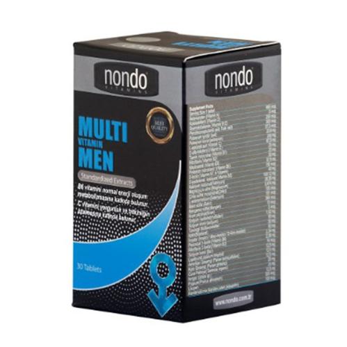 Nondo Vitamins - Nondo Vitamins Multivitamin Men 30 Tablet