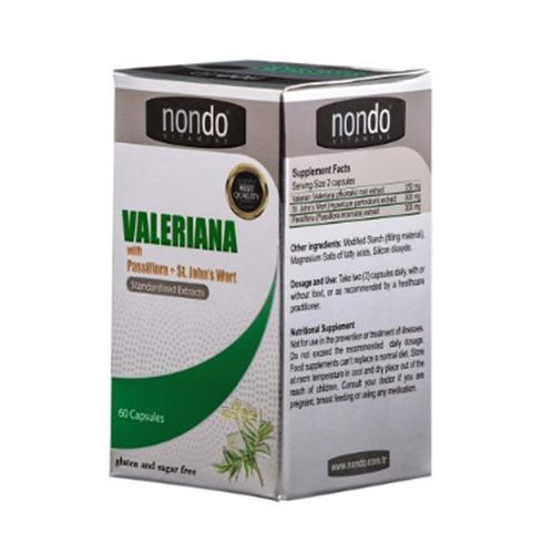 Nondo Vitamins - Nondo Vitamins Valeriana 60 Kapsül