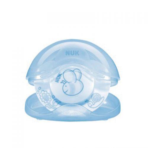 NUK - NUK Baby Blue Kutulu Silikon Uyku Emziği No:1