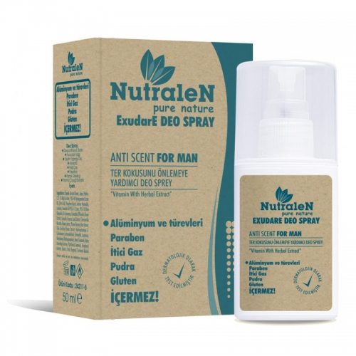 Nutralen - Nutralen ExudaE Deo Spray Anti Scent For Men 50 ml