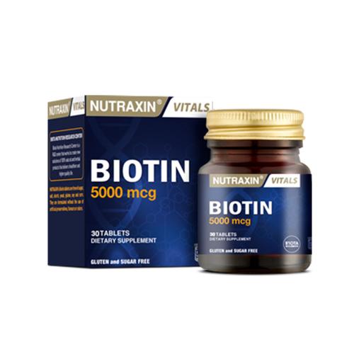 Nutraxin - Nutraxin Biotin 5000 mcg Takviye Edici Gıda 30 Tablet