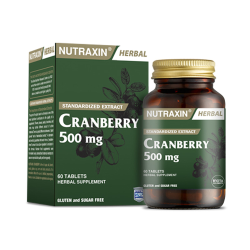 Nutraxin - Nutraxin Cranberry 500 mg Takviye Edici Gıda 60 Tablet