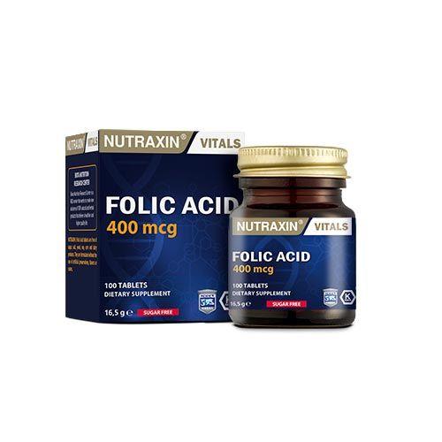 Nutraxin - Nutraxin Folic Acid 100 Tablet