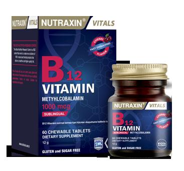 Nutraxin - Nutraxin Vitals B12 Vitamin 60 Tablet