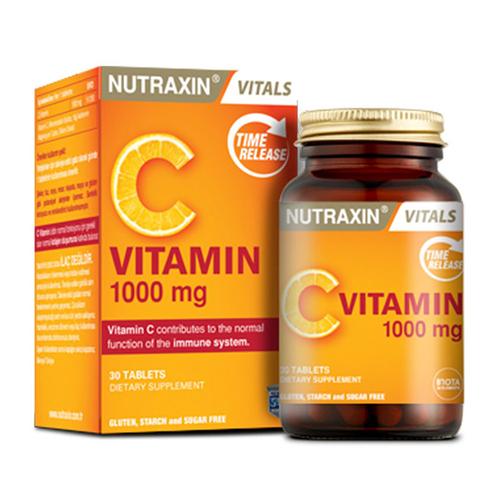 Nutraxin - Nutraxin Vitamin C 1000 mg Takviye Edici Gıda 30 Tablet