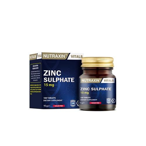 Nutraxin - Nutraxin Zinc Sulphate 100 Tablet