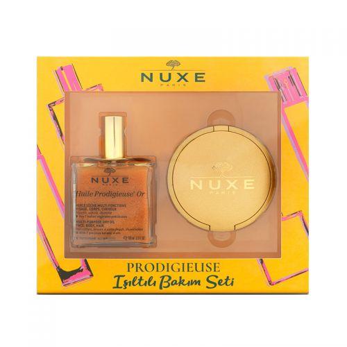Nuxe - Nuxe Huile Prodigieuse Or & Poudre Eclat Prodigieuse SET