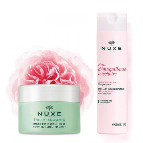 Nuxe - Nuxe Insta Arındırıcı Maske 50 ml + Nuxe Temizleme Suyu 200 ml
