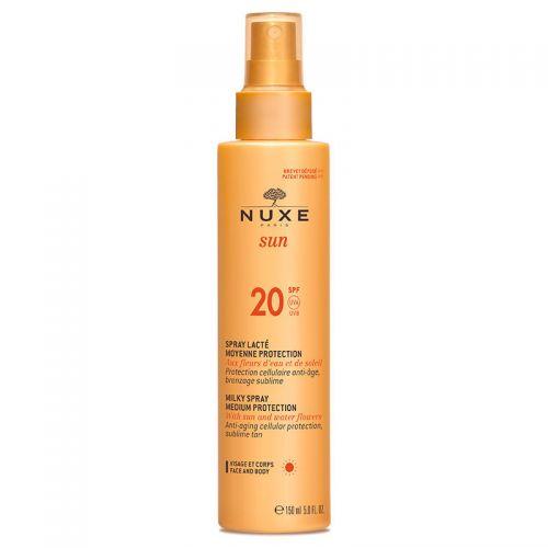 Nuxe - Nuxe Sun Güneş Koruyucu Yüz ve Vücut Sütü Sprey Spf20 150ml