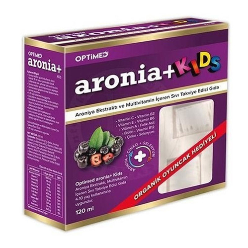 Optimed - Optimed Aronia + Kids Multivitamin İçeren Sıvı Takviye Edici Gıda 120 ml | Hediyeli