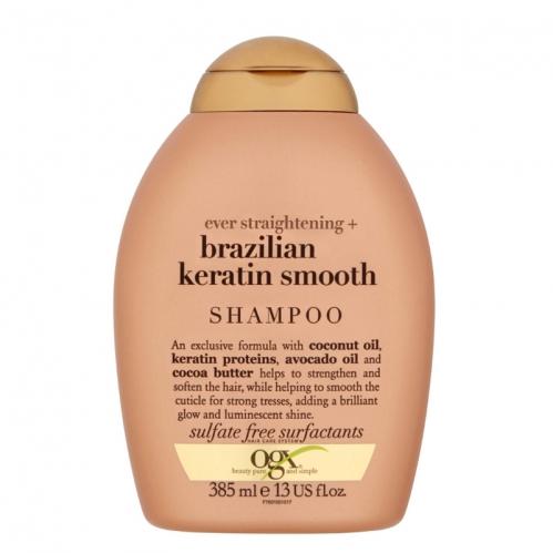 Organix - Organix Brazilian Keratin Düz Saçlar için Şampuan 385ml