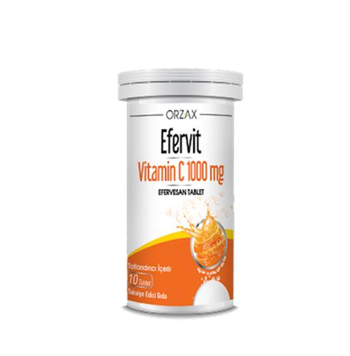 Orzax - Orzax Efervit Vitamin C 1000 Mg Efervesan Tablet 10 Tablet