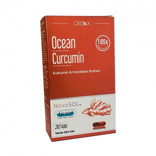 Orzax - Orzax Ocean Curcumin Karabiber Ekstresi Takviye Edici Gıda 30 Kapsül