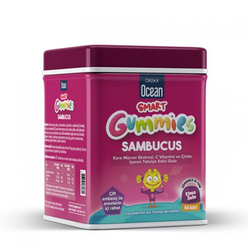 Orzax - Orzax Smart Gummies Sambucus Takviye Edici Gıda 64 Adet