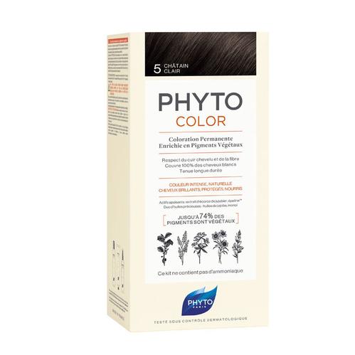 Phyto Saç Bakım - Phyto Phytocolor Bitkisel Saç Boyası - 5 - Açık Kestane