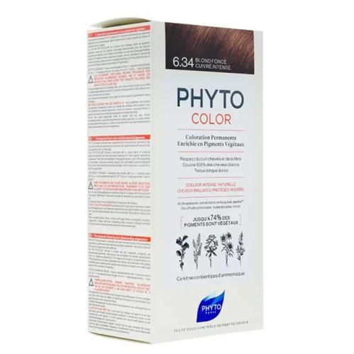 Phyto Saç Bakım - Phyto Phytocolor Bitkisel Saç Boyası 6.34 - Koyu Kumral Dore Bakır Yeni Formül
