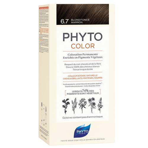 Phyto Saç Bakım - Phyto Phytocolor Bitkisel Saç Boyası - 6.7 Çikolata Kahve Yeni Formül