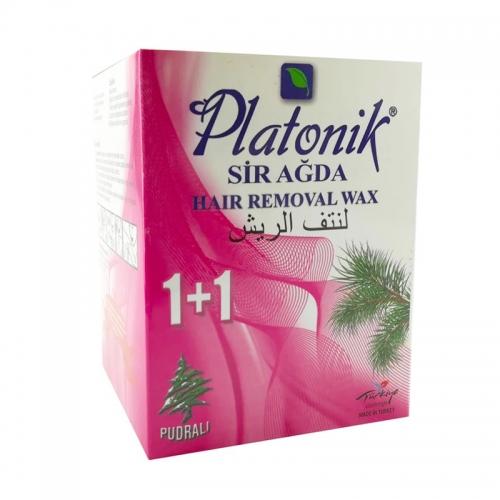 Platonik - Platonik Bitkisel Sir Ağda 1+1 Pudralı 120gr+70gr