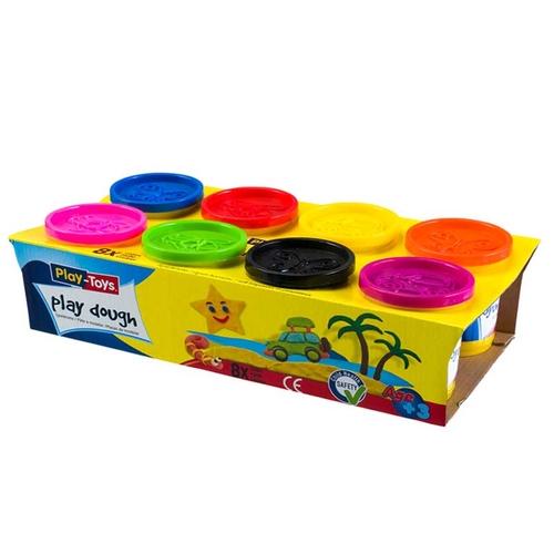 Playtoys - Playtoys Sekizli Paket Oyun Hamuru