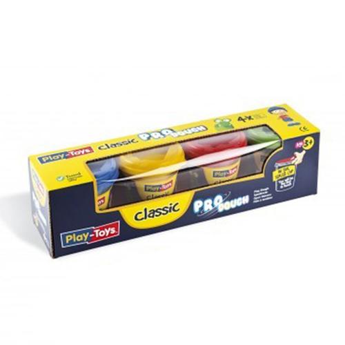 Playtoys - Playtoys Pro Dough Clasic 4x140 gr.