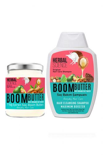 Procsin - Procsin Herbal Science Boom Butter Saç Bakım Yağ ve Şampuan Paketi