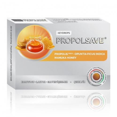 Propolsave - Propolsave Bal ile Tatlandırılmış Propolis İçeren Takviye Edici Gıda 12 Pastil