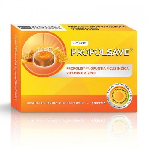 Propolsave - Propolsave Propolis - C Vitamini ve Çinko İçeren Takviye Edici Gıda 12 Pastil