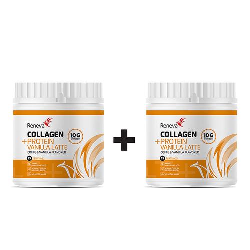 Reneva - Reneva Collagen Protein Vanilla Latte 2x 230 gr