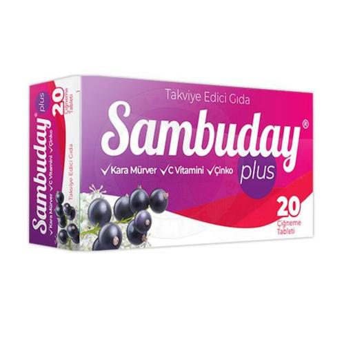 Sambuday - Sambuday Plus Çi̇ğneme 20 Tablet