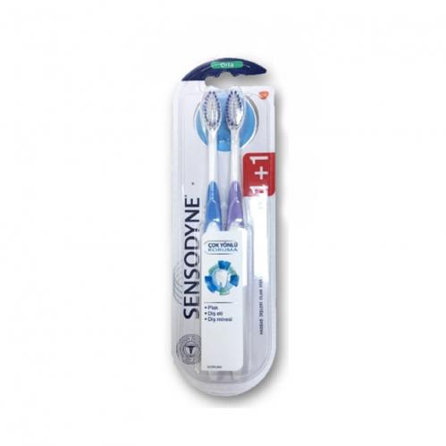 Sensodyne - Sensodyne Çok Yönlü Koruma Diş Fırçası 1+1 Orta