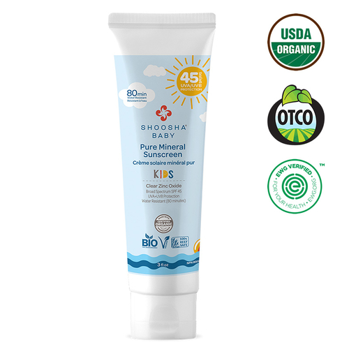Shoosha - Shoosha Organic Kids Mineral Sunscreen Face & Body SPF 45 90 ml