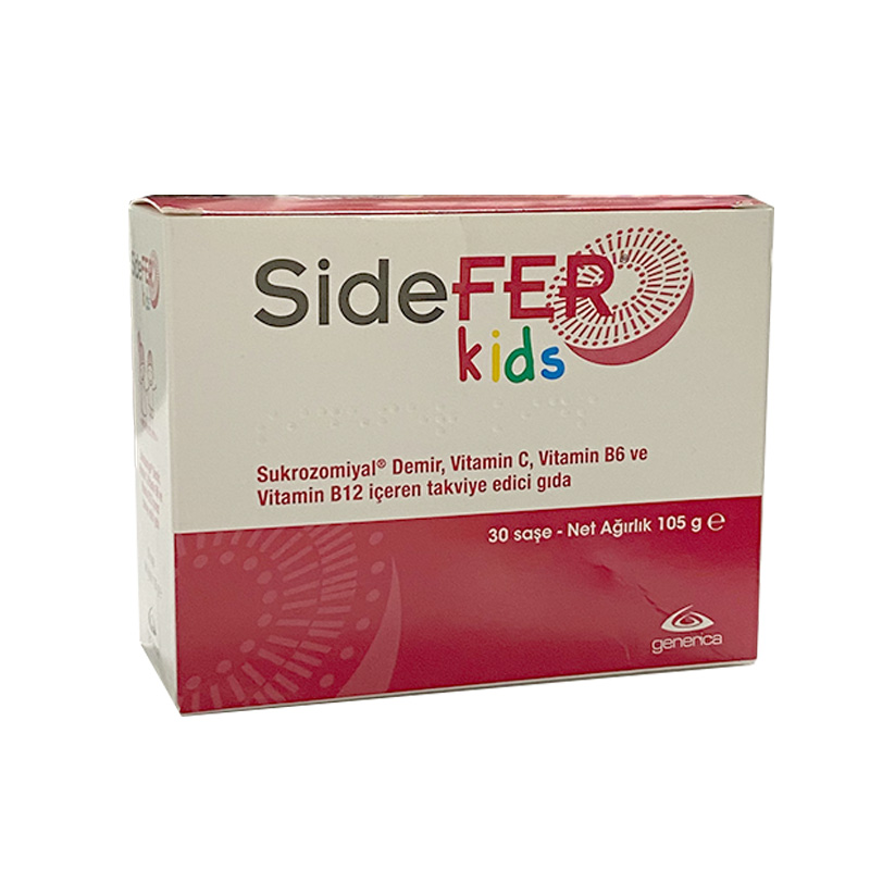 Sidefer - Sidefer Kids Vitamin B12 İçeren Takviye Edici Gıda 30 Saşe