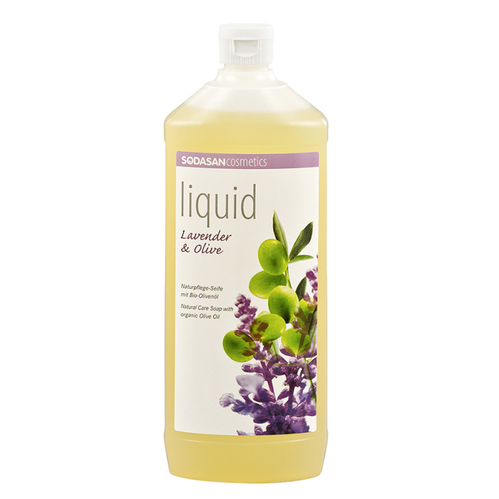 Sodasan - Sodasan Organik Sıvı Sabun Lavantalı (Lavender&Olive) 1000 ml