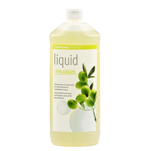 Sodasan - Sodasan Organik Sıvı Sabun Zeytinyağlı Kokusuz Hassas 1000 ml