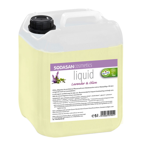 Sodasan - Sodasan Sıvı Sabun Lavantalı (Lavender-Olive) 5 lt