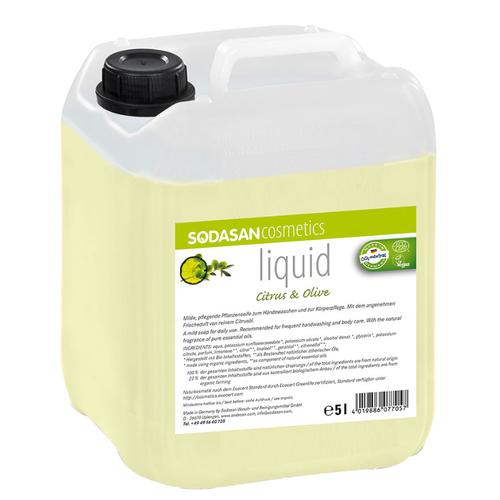 Sodasan - Sodasan Sıvı Sabun Limonlu (Citrus-Olive) 5 lt