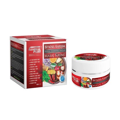 Softto - Softto Plus Bitkisel Karışım Masaj Kremi 100 ml