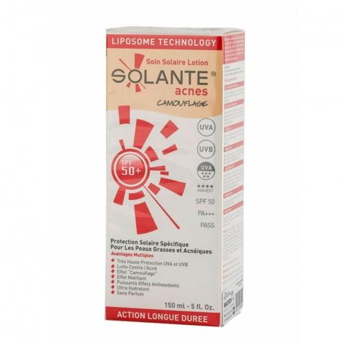 Solante - Solante Acnes Tinted Losyon SPF 50+ 150 ml