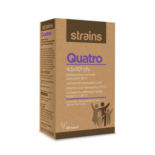 Orzax - Strains Quatro Probiyotik Takviye Edici Goda 30 Kapsül