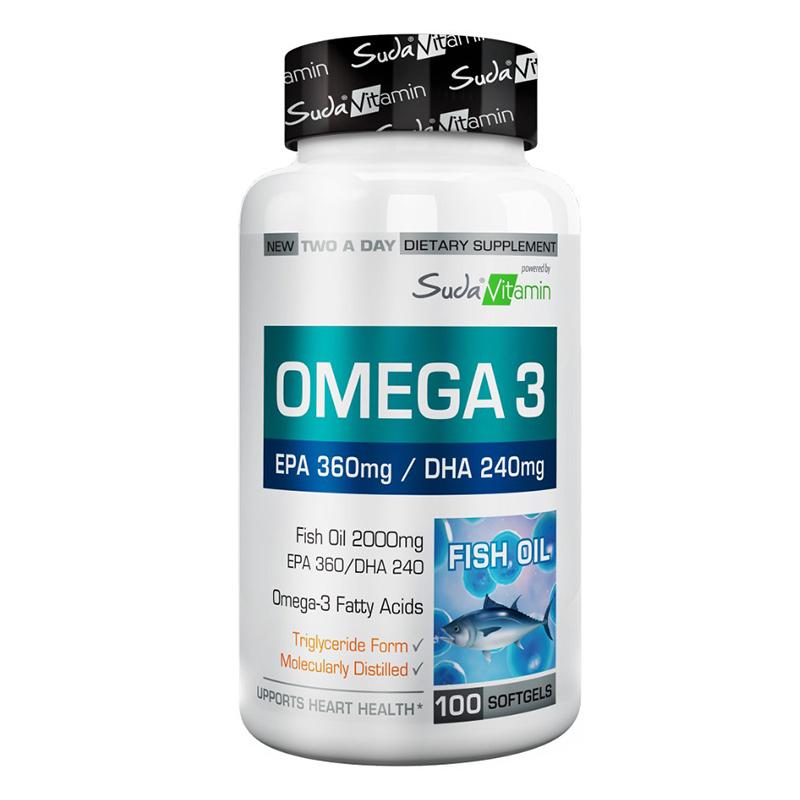 Suda Vitamin - Suda Vitamin Omega 3 2000 mg 100 Yumuşak Jel Kapsül