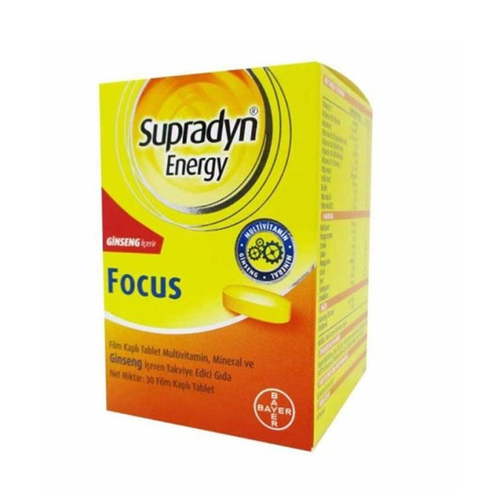 Supradyn - Supradyn Energy Focus 30 Film Kaplı Tablet