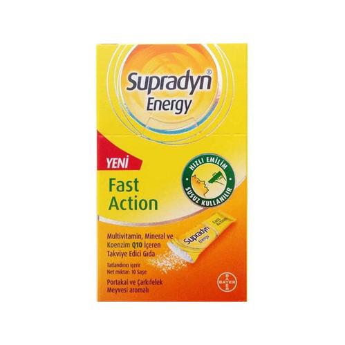 Supradyn - Supradyn Energy Koenzim Q10 Takviye Edici Gıda 10 Saşe