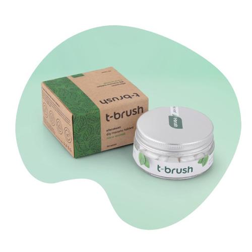 T-Brush - T-Brush Nane Aromalı Florürsüz Diş Macunu 90 Tablet