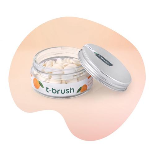 T-Brush - T-Brush Portakal Aromalı Florürsüz Diş Macunu 90 Tablet
