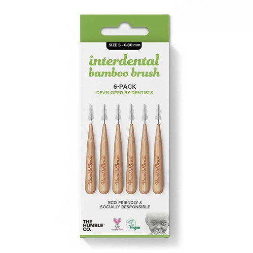 Humble Brush - The Humble Co Interdental Bamboo Brush 6-Pack 0 - 0.80 mm