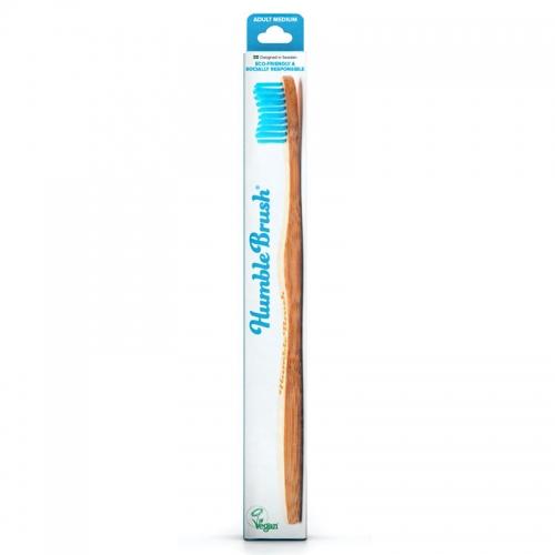 Humble Brush - The Humble Co Yetişkin Diş Fırçası Medium - Mavi