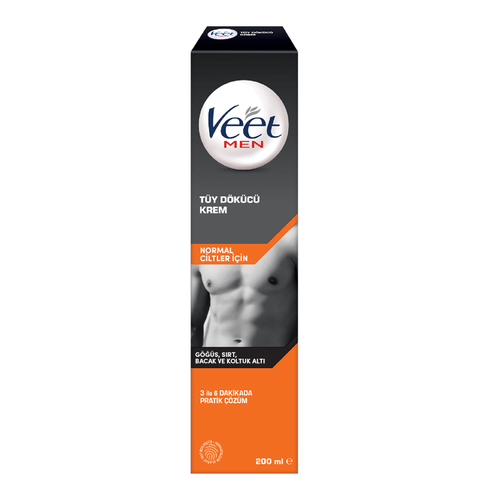 Veet - Veet Men Normal Ciltler için Tüy Dökücü Krem 200 ml